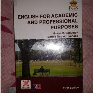 English For Academic and Professional Purposes Textbook for SHS