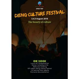 OPEN TRIP TO DIENG CULTURE FESTIVAL