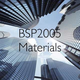 BSP2005 Materials