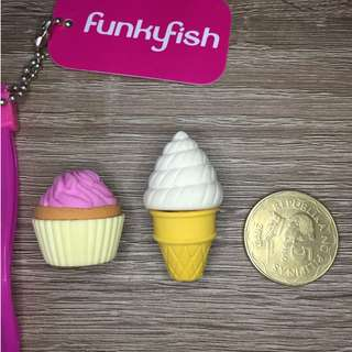 Funky Fish Erasers (2 pieces)