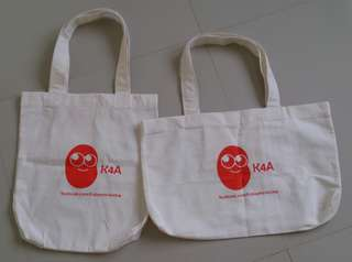 K4A Eco Bags (Canvas Tote Bags)