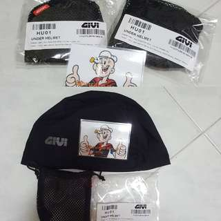 🧢🧢GIVI Head cap, UNDER HELMET (HU01) Inner cap