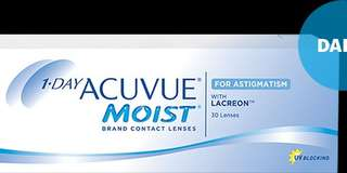 1•DAY ACUVUE®MOIST® FOR ASTIGMATISM