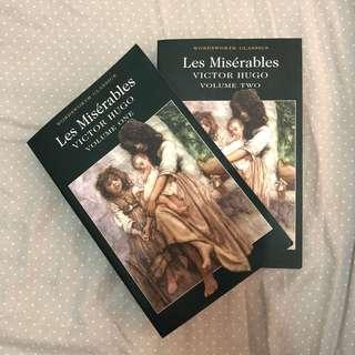 Les Misérables by Victor Hugo Volumes I & II