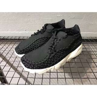 Nike Air Footscape Woven 黑 編織 麂皮 男