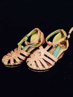 Gittery pink wedge  for your lil girl