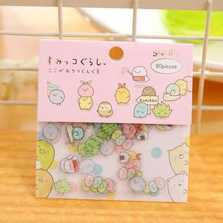 🚚 80pcs San-X Sumikko Gurashi Cute Little Stickers @ $2 per pack only!!! Ready Stocks all sold!!! Opening for Preorders now!!! ETA early Aug!