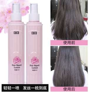 ❗️🙌🏻Highly raved hair repair lotion spray with a nice long lasting scent🙌🏻❗️repair water hydration, easily absorb & non greasy. Just a few spray will do & comb your hair gently (you will see the result instantly 😀)