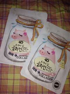 2 Collagen mask for 100..