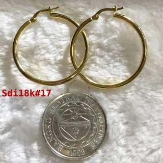 100% Authentic 18K Saudi Gold Earrings