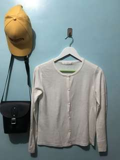 White Buttons Long-sleeves