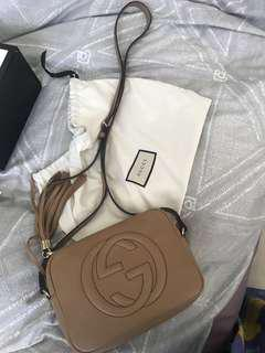 GUCCI SOHO DISCO BAG BIEGE