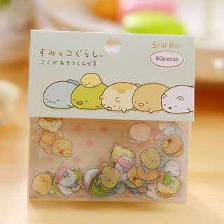🚚 80pcs San-X Sumikko Gurashi Cute Little Stickers @ $2 per pack only!!! Ready Stocks!!! Limited sets left!!!