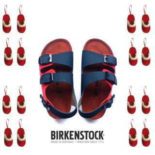 Sandal Birkenstock Anak tanggung Gesper 2 Belakang Navy Red (Milano).
