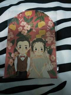 Bride and groom wedding ang pao