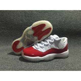NIKE Air Jordan 11 Low AJ11 白紅 低筒 女