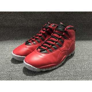 NIKE Air Jordan 10 AJ10 Retro Bulls 公牛 全紅 男