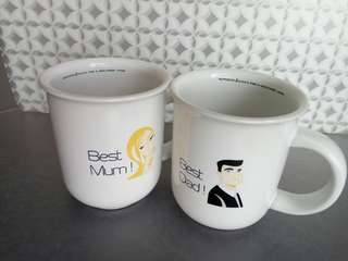 Best Mum & Best Dad mug (Gift Item)