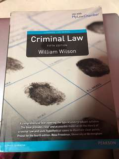 Criminal Law 5th Edition William Wilson