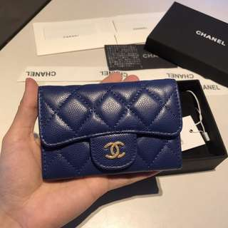 chanel blue cardholder