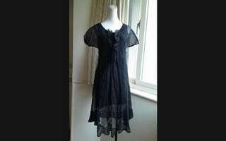🚚 iROO 純絲 飄逸 絲紗洋裝