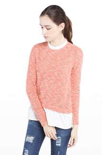 Peach larissa knit top by cotton ink