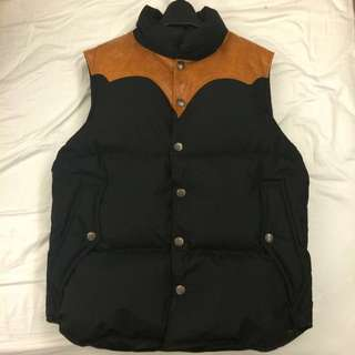 Rude Gallery Leather Down Vest 羽絨背心