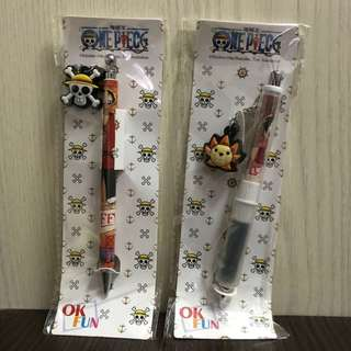 *New* One piece luffy sunny 海賊王 路飛 桑尼 鉛芯筆 原子筆 文具 pen pencil stationery