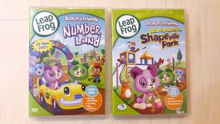 Bundle of 2 Used Leapfrog DVDs for Toddlers