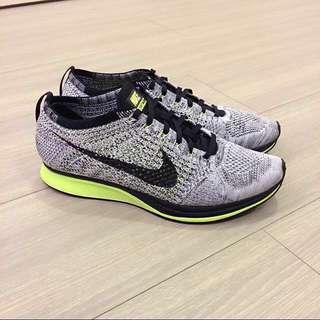 Nike Flyknit Racer 編織 螢光 雪花 慢跑鞋