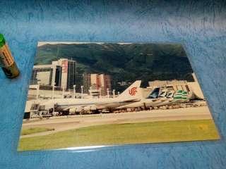 那些年,機場還在啟德的日子。5X7照片1張
