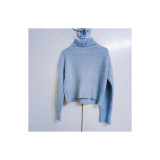 🚚 灰色高領毛衣(附實拍)
