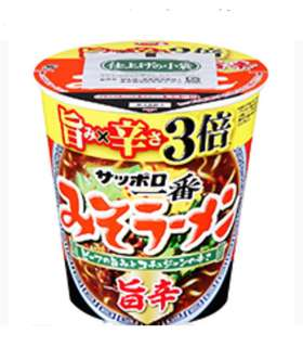 日本札幌辛辣3倍味噌拉麵