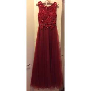 Evening Gown Prom Tulle Dress
