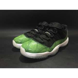 NIKE Air Jordan 11 Retro Low 青蛇 綠 蛇皮 低筒