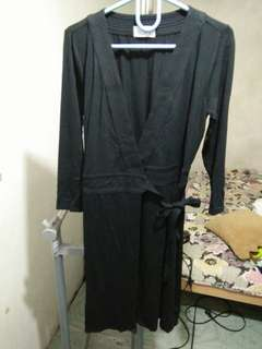 Black wrap up dress