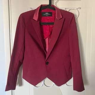 Initial 棗紅色西裝外套