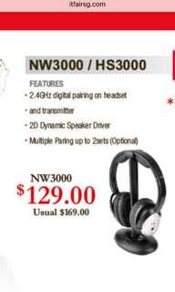 Nakamichi NW3000 Wireless Headphones Almost New