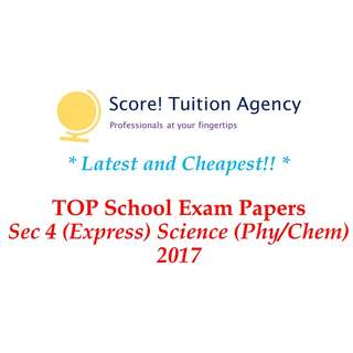 🚚 *Latest & Cheapest* 2017 Secondary 4 Combined Science Examination Papers (Express, Normal (Academic)