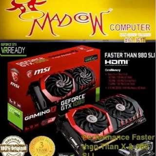 MSI GTX 1080 Gaming X 8Gb DDR5 Boost Clock/Base Clock 1797MHz.