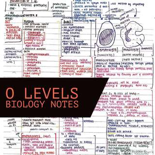 Biology Notes | O Levels Bio