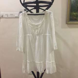 Kitschen White Babydoll Dress