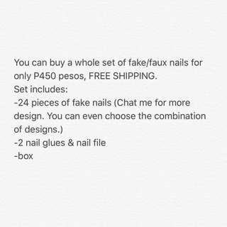 ‼️PROMO‼️ FAKE/FAUX NAILS or NAIL EXTENSION