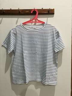 kaos stripes biru