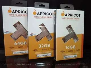 "Apricot OTG External memory for ios unit ""Order now"" Brand new,  Sealed with warranty"