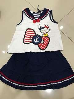 Sailor hello kitty set (1-2yrs)