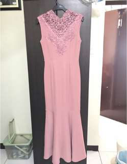 It Girl Classy Rose Long Gown (Apartment 8 inspired)