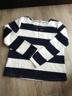 Navy Blue & White Sweater from Bangkok