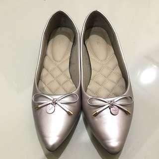 Jual Rugi!!! Vnc Flatshoes rose gold