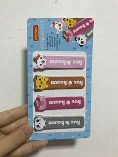 Cute animal sticker bookmarks